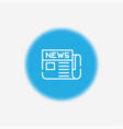 newspaper icon sign symbol vector image vector image