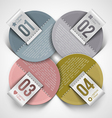 Numbered infographics round paper labels vector image vector image