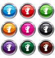 ok gesture set 9 collection vector image vector image