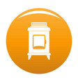 old oven icon orange vector image vector image