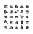 online shopping solid icon set vector image