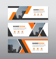 Orange black triangle abstract corporate business vector image vector image