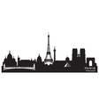 Paris France skyline Detailed silhouette vector image