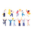 people with trophy office reward success vector image vector image