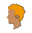 profile man young character people vector image vector image