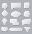 realistic 3d detailed white blank tags stickers vector image
