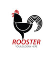 rooster cock chicken logo design vector image
