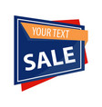 Sale promotion banner your vector image