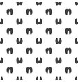 seamless pattern animal foot background vector image