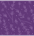 seamless pattern with lavender vector image