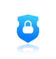 security shield icon on white vector image vector image