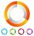 segmented circle generic abstract icon circular vector image vector image