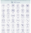 SEO outline icon set Elegant thin line vector image vector image
