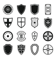 Shield frames icons set simple style vector image vector image