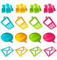sparkly social media icons vector image vector image