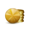 stack golden coins vector image