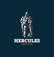statue hercules vector image vector image