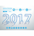 stethoscope year 2017 of tubing forming text vector image