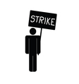 strike icon with man vector image