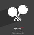 Tennis rocket symbol Flat modern web design with vector image