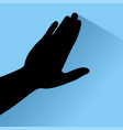 touch hand vector image vector image