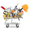 Trolley with Tools vector image vector image