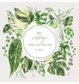 watercolor tropical green leaves monstera vector image vector image