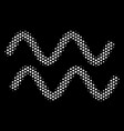 white dot sinusoid waves icon vector image vector image