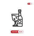 wine icon alcoholdrink symbol vector image vector image