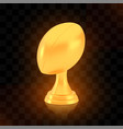 winner rugcup award golden trophy logo vector image vector image
