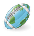 world globe football ball concept vector image