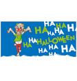 zombie mascot cartoon banner background vector image