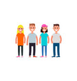 flat design characters team modern society vector image