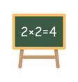school board with simple equation vector image
