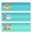 Summer travel - decorative horizontal vector image