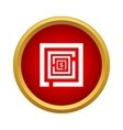 Labyrinth icon in simple style vector image
