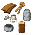 Ancient items for woodworking vector image vector image