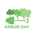 arbor day flat vector image