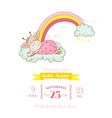 bagiraffe shower card - with place for text vector image vector image