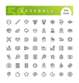 Baseball Line Icons Set vector image