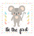 be the first inspirational quote hand drawn vector image vector image