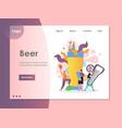 beer website landing page design template vector image vector image