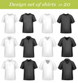 big design set shirts vector image
