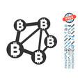 bitcoin network icon with bonus pictograms vector image vector image