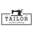 black tailor badge vector image vector image