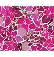 Bouquet Beautiful Pink Flower Seamless Pattern vector image vector image