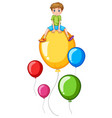 boy and colorful balloon vector image vector image