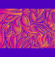 bright vintage psychedelic abstract ornamental vector image vector image