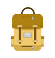 brown school backpack vector image vector image