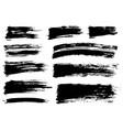 brush stroke bundle textured paintbrush vector image vector image